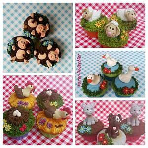 My Farm Animal Cupcakes - Cake by Karen Dodenbier