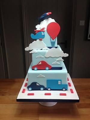 Modes of Transportation - Cake by BeaisforBaking