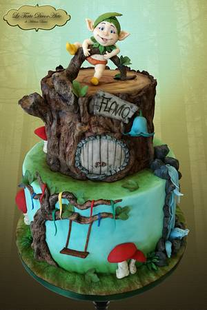 Little elf and his enchanted forest house - Cake by Adelina Baicu Cake Artist
