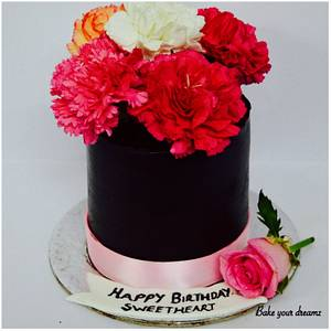 Carnations - Cake by Bake your dreamz by Malvika