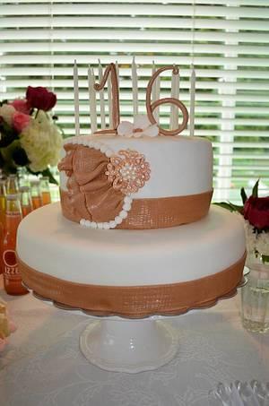 Birthday Cake Sweet 16 - Cake by Lea's Sugar Flowers