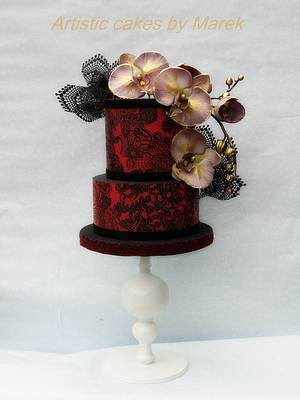 Wedding cake ,romantic - Cake by Marek