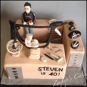 Building a motorbike - Cake by Zoepop