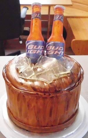 Sugar Beer Bottle Cake - Cake by Carrie Freeman