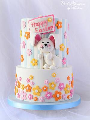 Easter Bunny Cake - Cake by CakeHeaven by Marlene