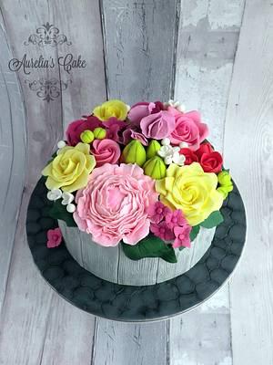 Flower explosion - Cake by Aurelia's Cake