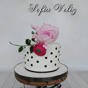 Torta flores❤  - Cake by Sofia veliz