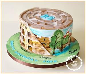 Colosseum Cake- Rome - Cake by Planet Cakes