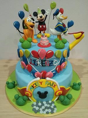 Mickey Mouse Birthday - Cake by Valeria Antipatico