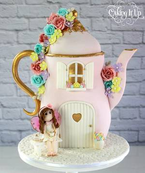 Fairy Tea Party Teapot Cake - Cake by Caking It Up