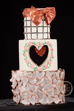Caker Buddies Valentine Collab - Cake by Bake N Frost