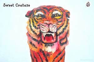 Animal Rights Collaboration - The Royal Bengal Tiger - Cake by Sunaina Sadarangani Gera