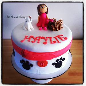 A Girl and Her Puppies - Cake by lilforgetcakes