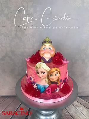 Frozen cake in pink - Cake by Cake Garden