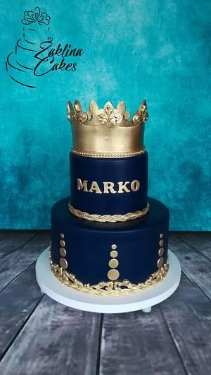 Golden crown - Cake by Zaklina