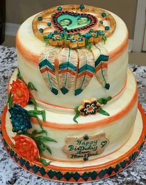 """""""Dream Catcher"""" Birthday Cake  - Cake by eiciedoesitcakes"""