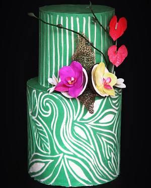 Carved tropical - Cake by Anastasia Kaliazin