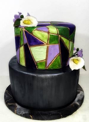 Mosaic wedding cake  - Cake by Tisha Frank