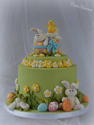Bunnies really love Easter eggs - Cake by CakeHeaven by Marlene