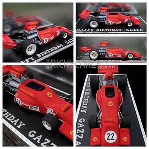 Vintage Formula 1 (f5000) - Cake by Trickycakes