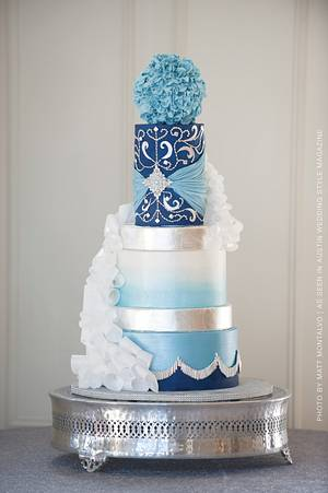 Wintry Wedding - Cake by Cakes ROCK!!!