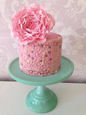 Sprinkled with Love....x. - Cake by Lulu Belles Cupcake Creations