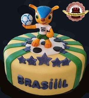 World Cup Brazil Fuleco - Cake by Durrysch Bolos Decorados
