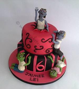 Zombies birthday cake - Cake by Cake Temptations (Julie Talbott)