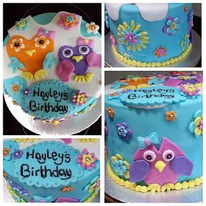 Hippy Owls - Cake by sofeesmum