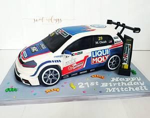 TCR Racers Car - Cake by Lulu Goh