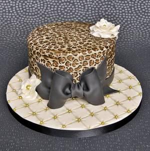 Leopard Print Birthday Cake - Cake by Pam