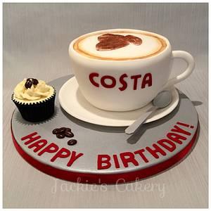 Costa Coffee Cake - Cake by Jackie's Cakery
