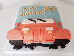 2-D Jeep Cake - Cake by Kathryn