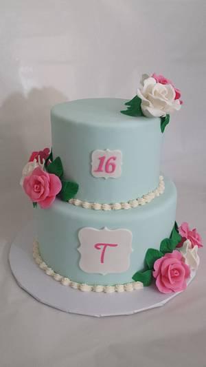 Tori's Sweet 16 - Cake by Nicole Verdina