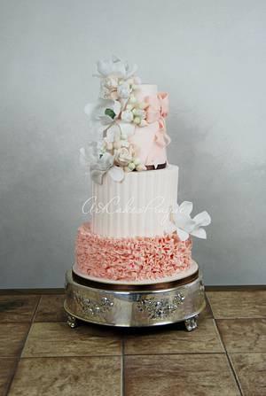 Ruffle wedding cake - Cake by Art Cakes Prague