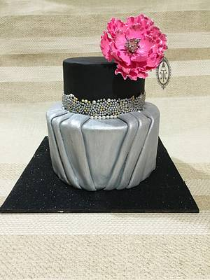 Silver elegance - Cake by Muskaan - Cut The Cake India