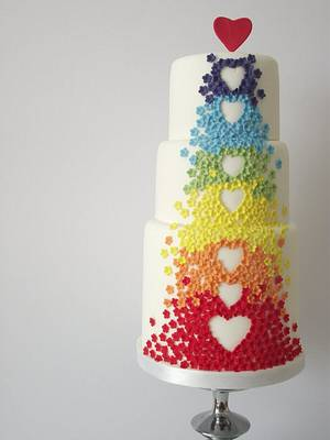 Rainbow cake. - Cake by Fatcakes
