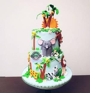 jungle theme cake - Cake by sheenam gupta