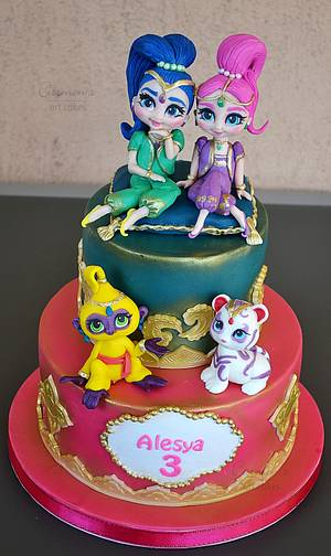 Shimmer and Shine - Cake by Carmen Iordache
