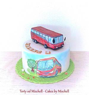 Hand painted bus cake ...  - Cake by Mischell