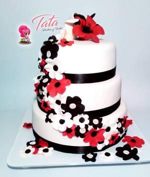 Torta Flores  - Cake by Tata Postres y Tortas