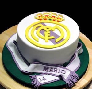 Tarta Real Madrid.- cake Real Madrid - Cake by Machus sweetmeats