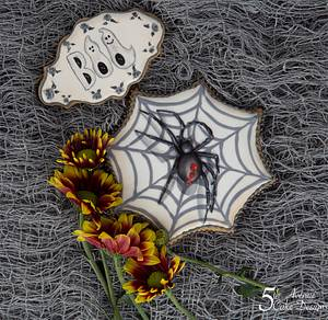 Creepy Spider and Ghostly Boo Cookies 🕷️👻 - Cake by Bobbie