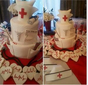 RN Graduation Cake - Cake by Margie
