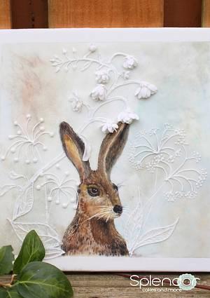 Easter Hare - handpainted multidimensional sugarwork - Cake by Ellen Redmond@Splendor Cakes