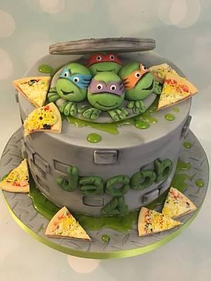 Ninja turtles - Cake by Shereen