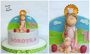 Sister - princess & brother - biker - Cake by Myska
