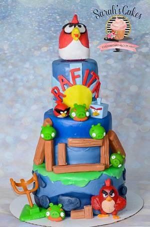 Angry Birds Cake - Cake by Sarah's Cakes