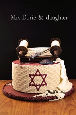 Bar mitzvah mosaic cake - Cake by Mrs.Dory & daughter by Ruth