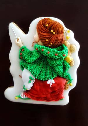 Mom Santa .... one cookie two sides (back side) - Cake by The Cookie Lab  by Marta Torres